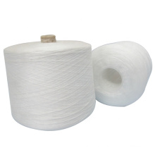 t-shirt yarn raw white on paper cone 40/2 strong strength polyester t-shirt yarn