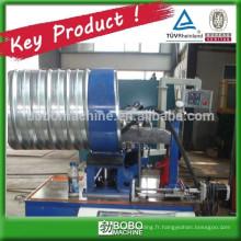 Machine à former le tube de ponceau métallique ondulé