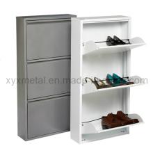 Cabinet de chaussure en métal à 3 tiroirs haut de gamme