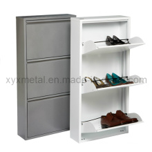 Gabinete de sapato de metal de 3 gavetas de estilo high-end Fashion Style