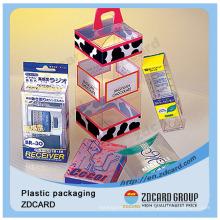 Atacado Cupcake Boxes Dobrável Caixa De Embalagem De Plástico Transparente