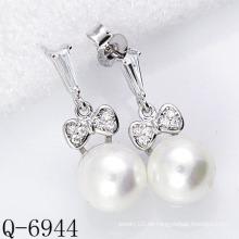 Neueste Styles Perlen Ohrringe 925 Silber (Q-6944)