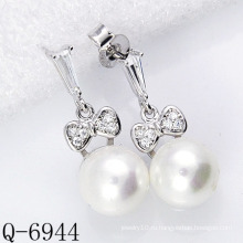 Новые стили Перл Серьги 925 Серебро (Q-6944)