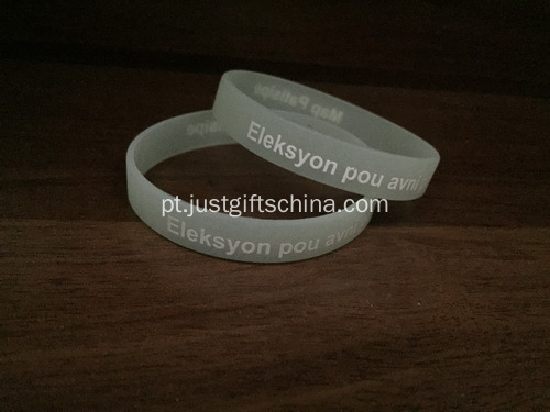 Custom Glow In The Dark Silicone Wristbands