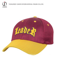 Gorra de béisbol de poliéster Gorra de poliéster Gorra de deporte Gorra de moda Cap Cap Promitonal Gorra de malla suave