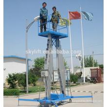 Mejor precio !! Elevador de araña de aluminio móvil del mástil doble para la venta