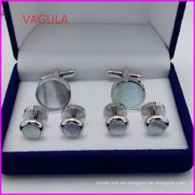VAGULA Super calidad Perla Collar de gemelos postes botón Hl161282