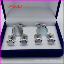 VAGULA Super Quality Pearl Cufflinks Collar Studs Button Hl161282