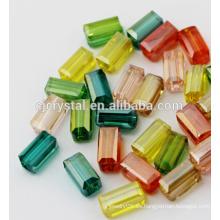 Joyería de cristal rectángulo perlas precios perlas de cristal