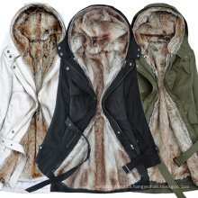 2018 winter long women's cultivate one's morality in the new collars hooded lambs wool cotton-padded clothes