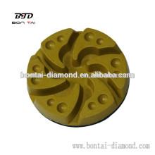 Almohadilla de suelo de resina con soporte de velcro