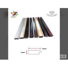 Tira de moldura de marco de fotos de plástico negro Moldura de marco de PS
