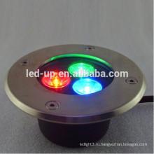 3w RGB светодиодный подземный свет с высокими люменами