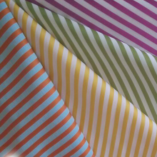 Yarn Dyed Cotton Sateen Stripe Fabric