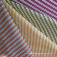 Fio tingido de algodão Sateen Stripe Fabric