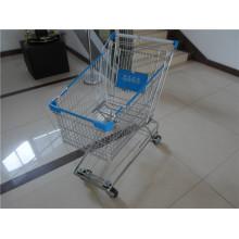 Asiatischer Stahl-Chrome-Supermarkt-Einkaufswagen