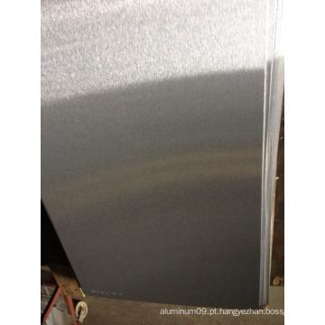 Folhas de alumínio escovadas 5052 para placas