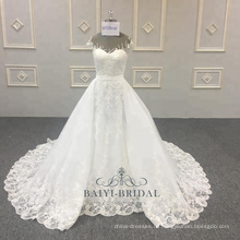 Съемный милая мусульманин 2 шт оптом с длинным шлейфом свадебные платья невесты Китай