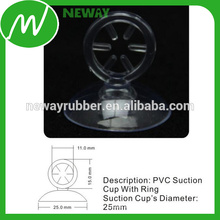 High Clear Industrial 25mm Suction Cup com anel