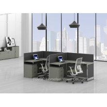 Mesa de trabalho de escritório de escritório pequena e moderna para 2 pessoas (HF-YZQ38)