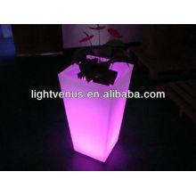 potenciômetros iluminados conduzidos do plantador potenciômetro decorativo modulares do jardim do diodo emissor de luz da multi cor