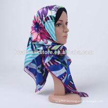 2014 nueva bufanda principal barata de seda turca del estilo 100