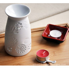Customized Ceramic Aroma Aromatherapy Oil Burner With Tart Warmer For Tealight Candles Ts-cb148