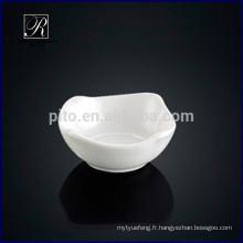 Hot-design en porcelaine carré en soucoupe de soja plat soucoupe en beurre profond romanique