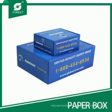 Recyclable Accept Custom Order Blue Packaging Box