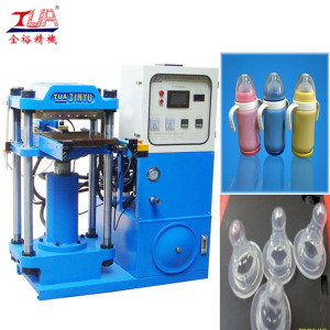 Silicone baby feeding bottle and nipple making machine