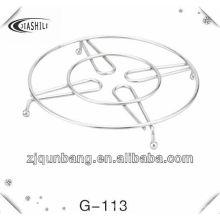 Stahlkugel-Metallschüssel-Auflage u. Topf-Auflage u. Tabellen-Matte