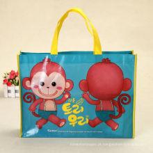 saco de compras de saco não tecido para crianças