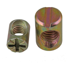 M6*20mm Customized Zinc Plated Carbon Steel Double Hole Slotted Barrel Nut