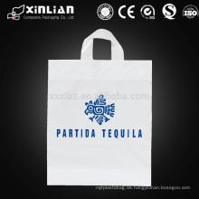 Kundenspezifisches Drucken HDPE / LDPE stanzte Plastikeinkaufstasche