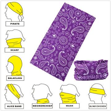 Bandana multifonctionnel sans couture promotionnel en microfibre de production de conception personnalisée