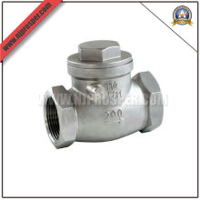 Válvula de cheque de oscilación de acero inoxidable (YZF-V04)