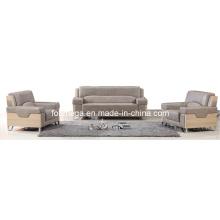 El sofá de la alta calidad del cuero genuino fija los sofás comerciales (FOH-8013)