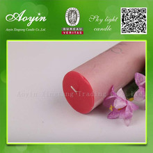 7.5*20 Red Paraffin Wax Pillar Candle for India