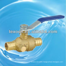 lead free Pex copper ball valves with drain CSA CUPC