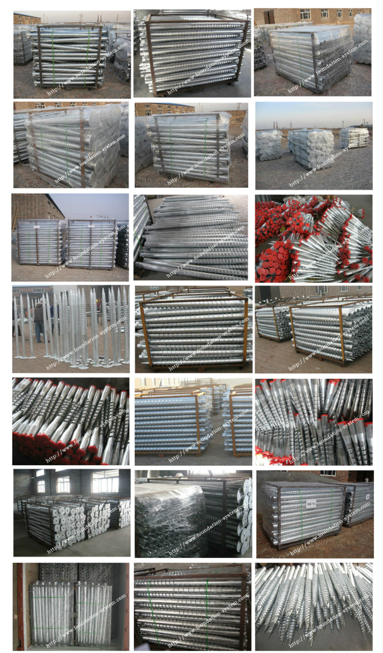 Galvanized Ground Screw With Flange