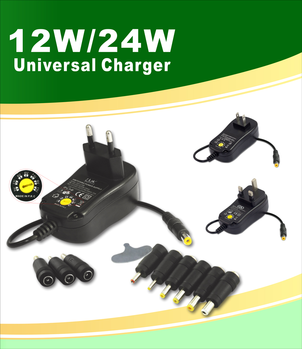 AC/DC Universal Multi Voltage Power Adapter
