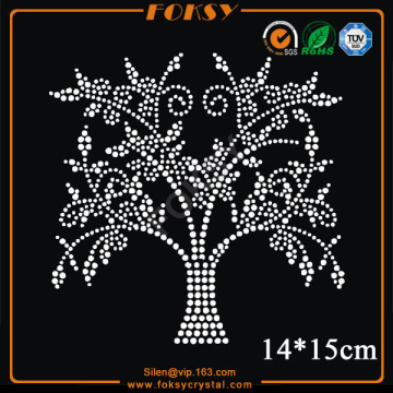 Customized for Rose Rhinestone Transfer Customized White tree hotfix rhinestone transfers export to Kuwait Factories