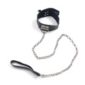 Slave Collars Wth Steel Chain Leash Sex Neck Ring Neck Collar Sm Necklace Adult Sm Toys