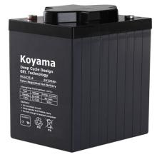 Batterie profonde de gel de cycle de 225ah 6V pour l'instrumentation