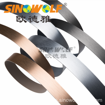Warna Perak Popular Warna Aluminium Edge Banding Strips