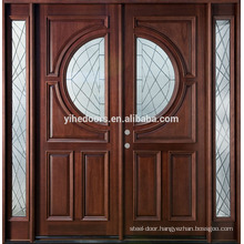 fancy woo door design of two panel door design