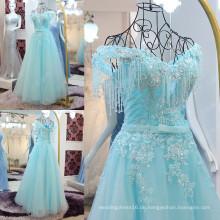 Robes De Soiree 2016 Longue Shining Kristall Perlen formale Abendkleider Kleid elegant aus der Schulter Spitze Applique ML185