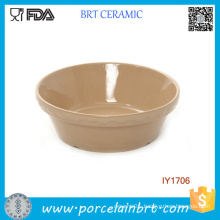Earthy Yellow Ceramic Bowl Pet Accessories Wholesale