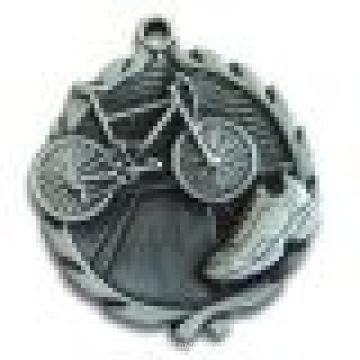 3D farblose Medaille Antike Silber Beschichtung