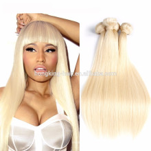 7A Grade Blonde Color Hair Weaving Hair Extension Type and Silky Straight Wave Style brazilian human hair extensions
